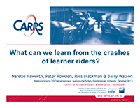 What Can We Learn From the Crashes of Learner Riders?, Slides